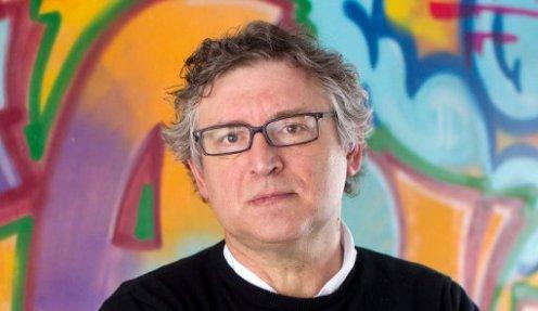 Sergio Gonzalez Valero. 26/03/2014. Madrid.Comunidad de Madrid.Michel Onfray.Filosofo frances.Entrevista.
